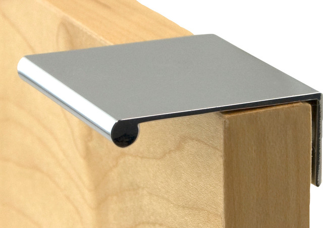 Drawer Pull Brushed Chrome Sleek