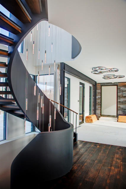 Modern Curved Stairs Contemporary Staircase New York