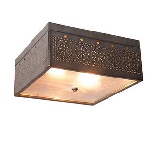 square flush mount ceiling light w