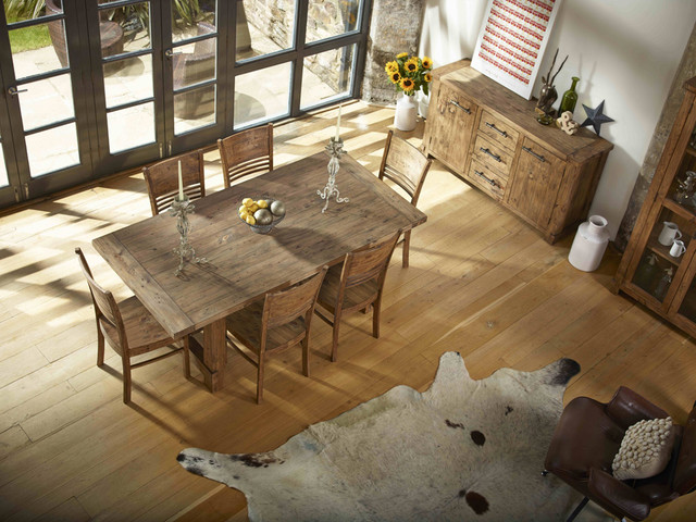 Country Reclaimed Solid Wood Farmhouse Dining Table