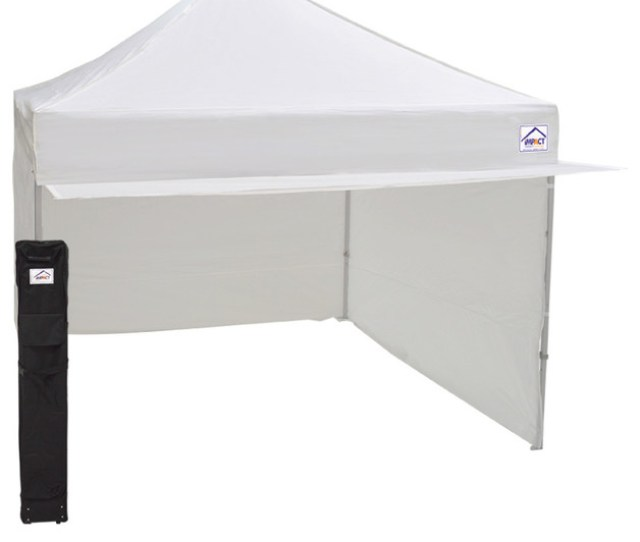 Aluminum And Steel Instant Ez Up Canopy Enclosed With Awning X