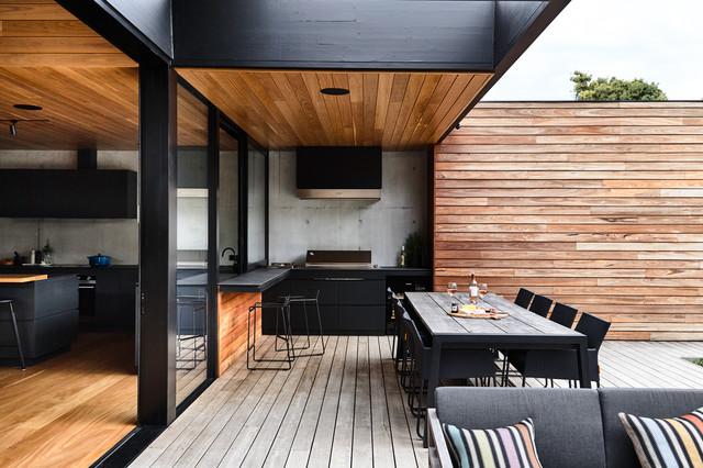 Blairgowrie Coastal Home & Landscape contemporain-terrasse-en-bois