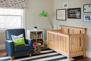 Serene & Color-Infused Waban Victorian: Toddler Bedroom traditional-nursery