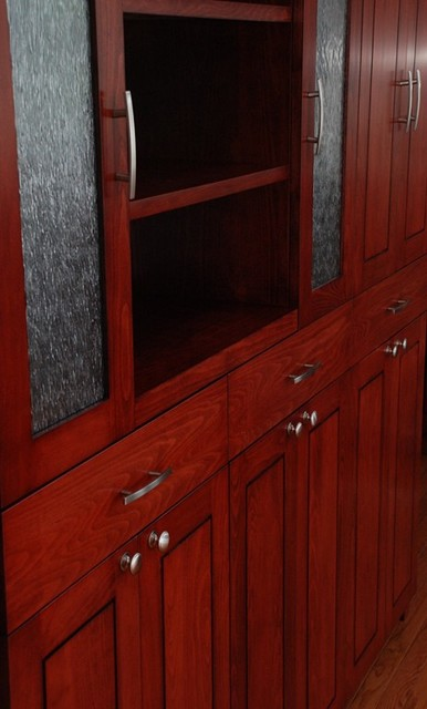 Kitchen Cabinet Unit In Red Modern Buffets And