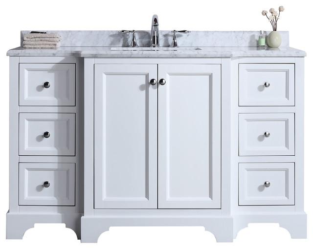 https www houzz com products jenny 55 single sink bathroom vanity set white prvw vr 123659749
