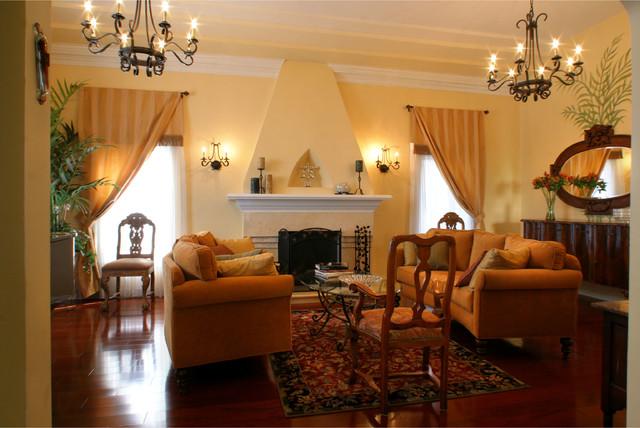 1920s House Mediterranean Living Room Los Angeles