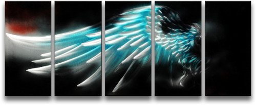 Metal Wall Art Abstract Modern Handmade Angel Wing