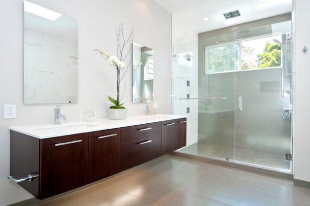 bathroom - floating vanity lyptus - contemporary - bathroom - san