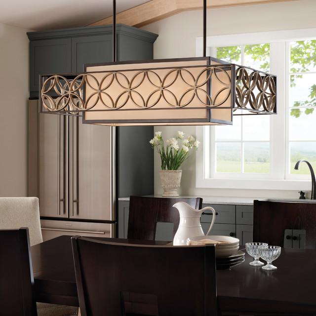Feiss F2468 4htbz Pgd Remy Heritage Bronze Island Light Midcentury Dining Room
