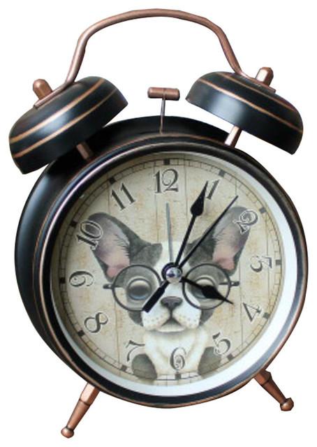 4 European Retro Alarm Clock Night