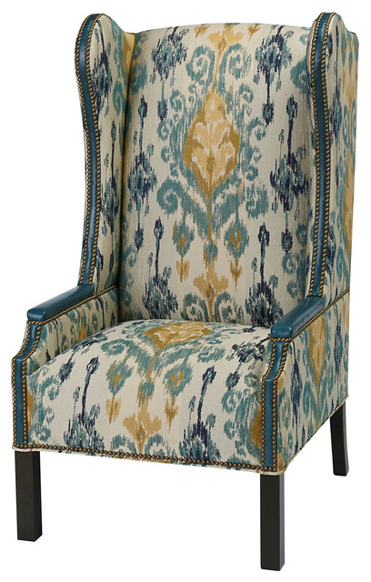 Teal And Yellow Accent Chair