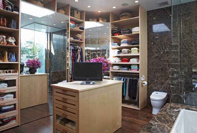 closet in bathroom | houzz
