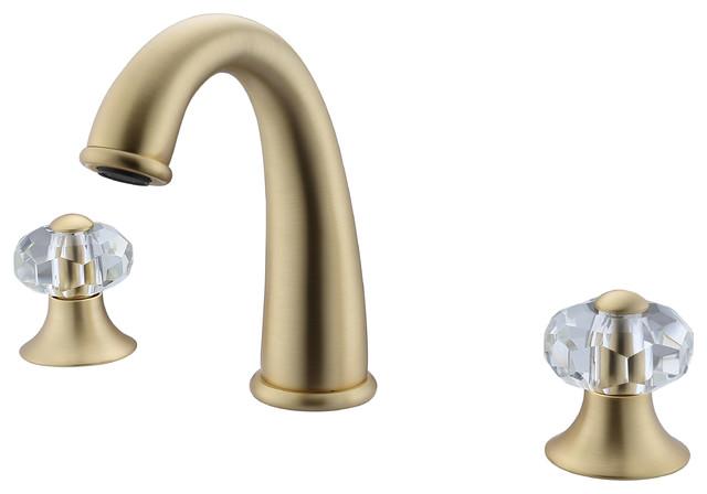 brea 8 inch widespread 2 handle bathroom faucet gold