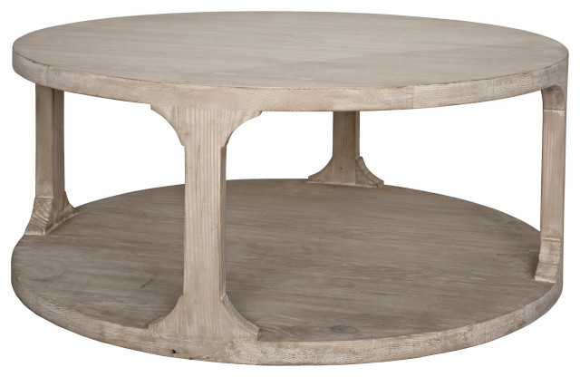 Reclaimed Lumber Gimso Round Coffee Table Small Farmhouse Coffee Tables By Cfc