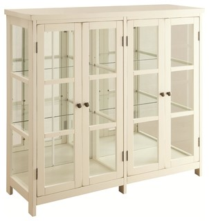 White Accent Display Cabinet