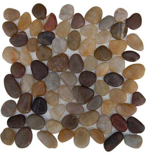 "12""x12"" Cobblestone Multicolored Flat Finish Tile, Single Sheet contemporary-mosaic-tile"