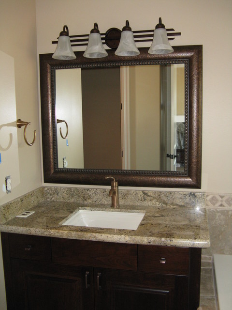 beautiful and elegant mirror frame kits - traditional - bathroom
