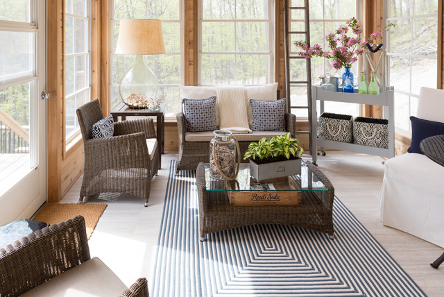 Eclectic Sunroom Ottawa cottage beach style sunroom ottawa by sonya kinkade design