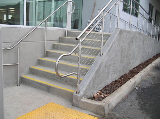 Stainless Steel Cable Railing Systems Modern Exterior | Stainless Steel Outdoor Handrails | Safety | Stainless Pipe | Hand Rail | Tube | Square