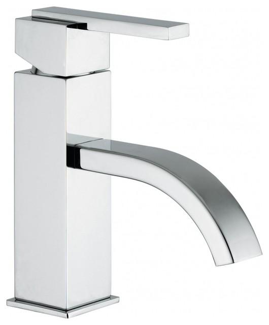 modern single hole one handle bathroom vanity sink faucet polished chrome