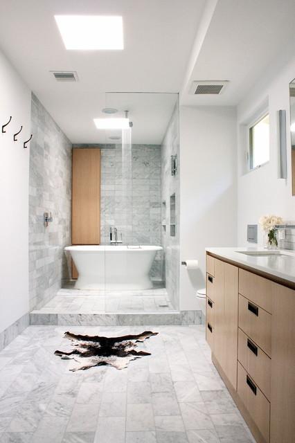 Wet Area Shower Amp Tub Contemporary Bathroom Los