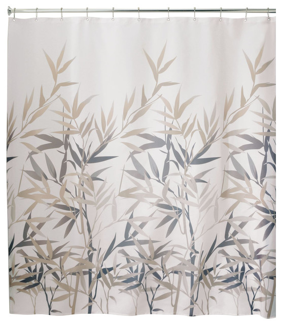 idesign anzu fabric shower curtain 72 x72 black and tan