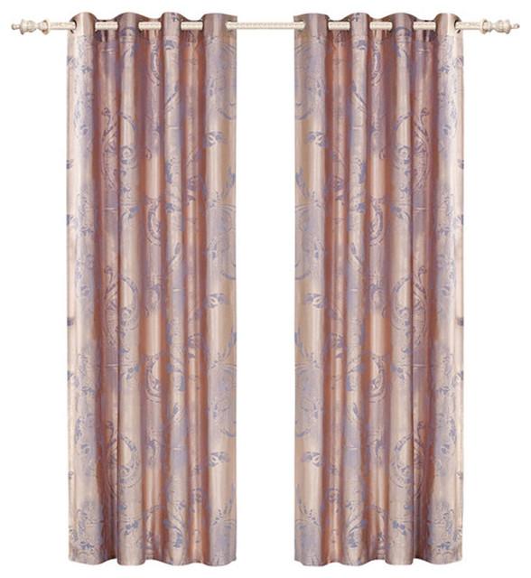 dolce mela dmc465 window treatment damask drapes pandora curtain panel