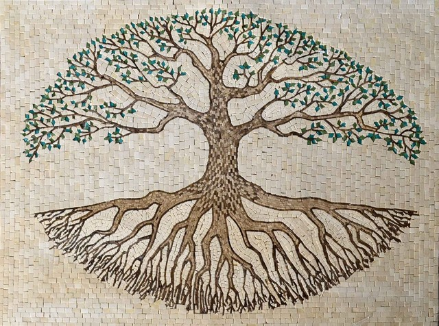 mosaic tile art tree of life 39 x51