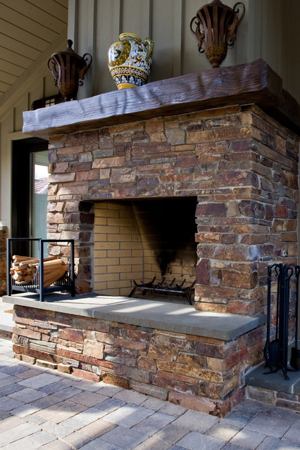 Outdoor Masonry Fireplace Traditional Landscape San Francisco By Bill Fry Construction