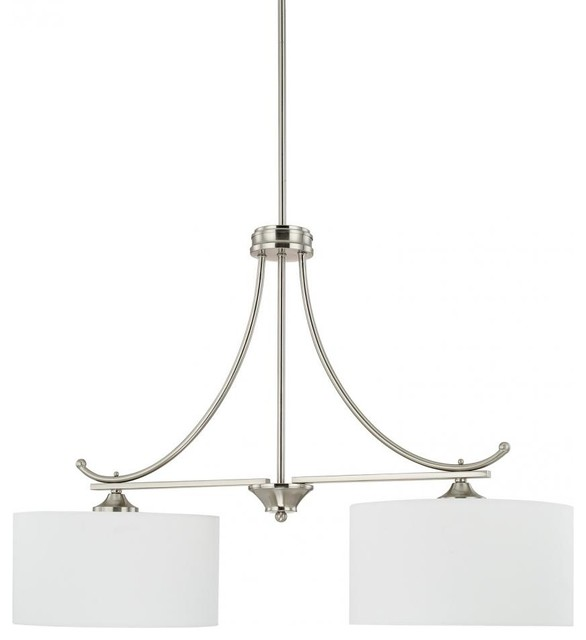 capital lighting 816121bn 663 homeplace 2 light island light brushed nickel