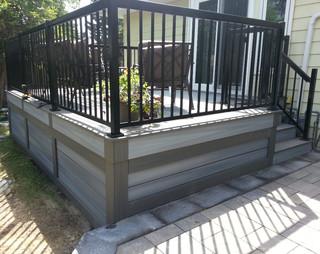 Fiberon Low Maintenance Composite Deck Edmonton Modern