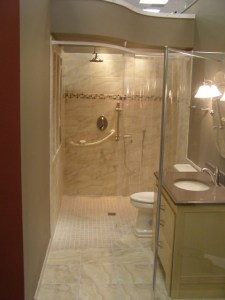 Handicapped Accessible and Universal Design Showers   Traditional     Handicapped Accessible and Universal Design Showers traditional bathroom