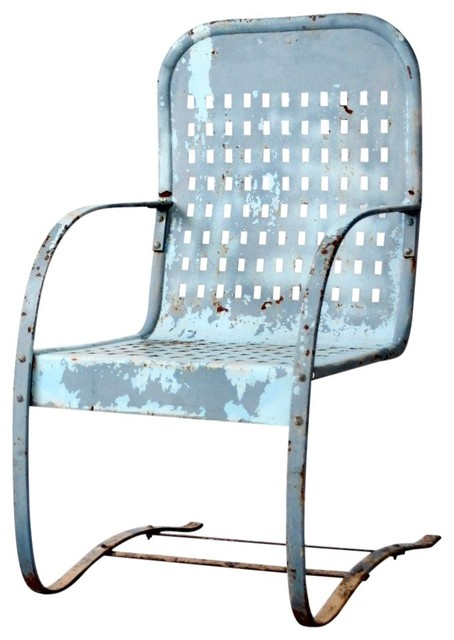 consigned mid century patio chair