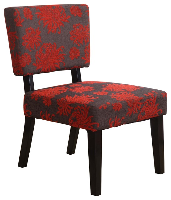 Red And Grey Accent Chair