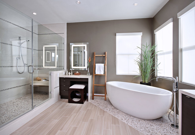 get creative with your bathroom floor tile