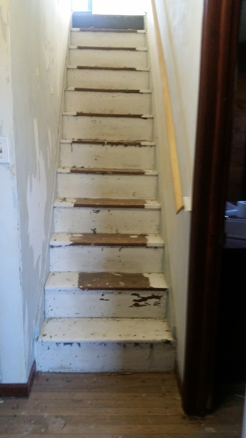 Old Farmhouse Staircase Paint Or Refinish