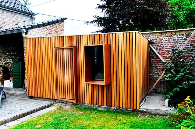 abri de jardin contemporary garden