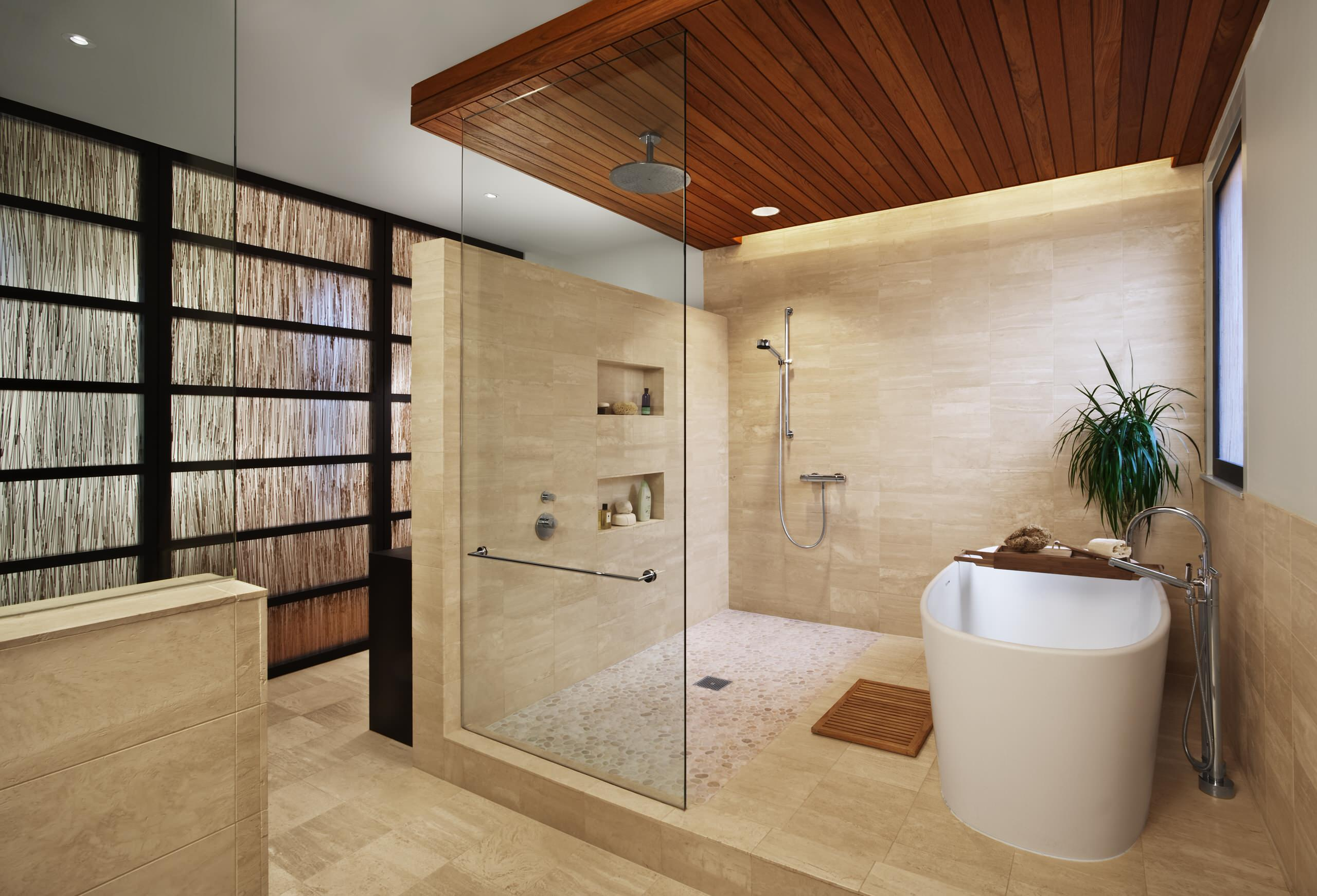 75 beautiful stone tile bathroom pictures ideas may 2021 houzz