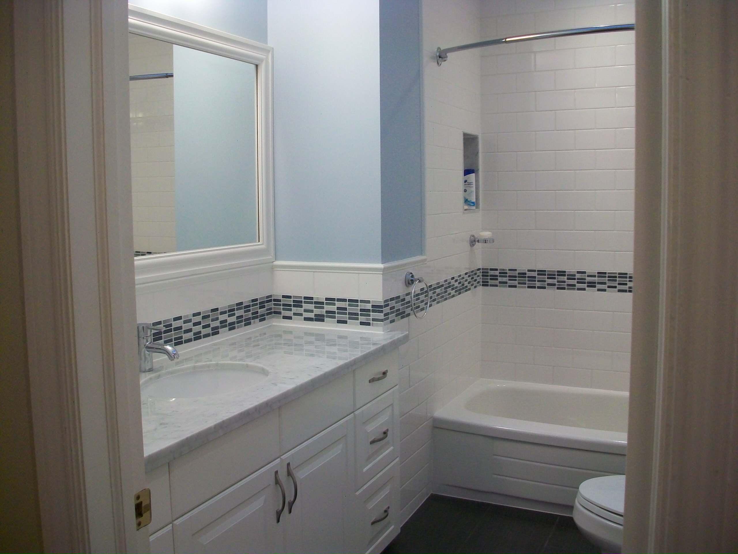 blue accent tile houzz