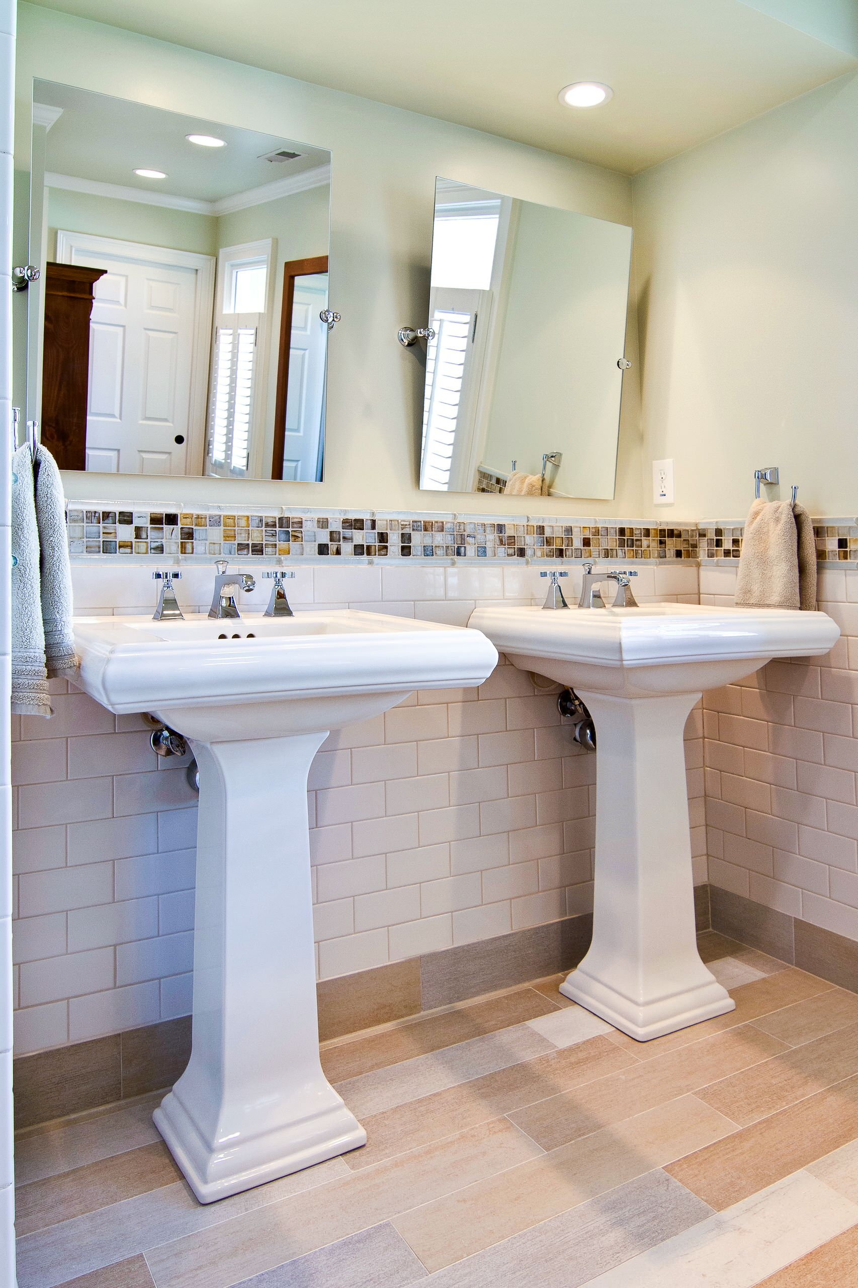 double pedestal sinks houzz
