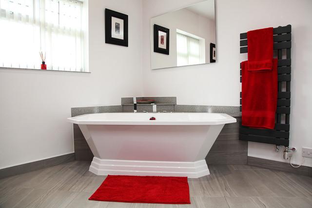 contemporary art deco bathroom