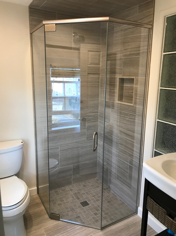 curbless neo angle shower 3x3