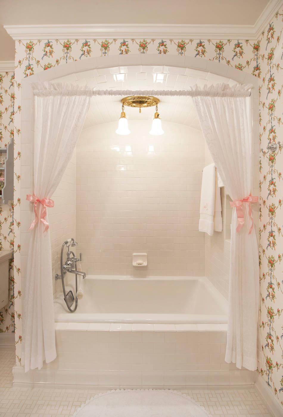shower curtain tie back houzz