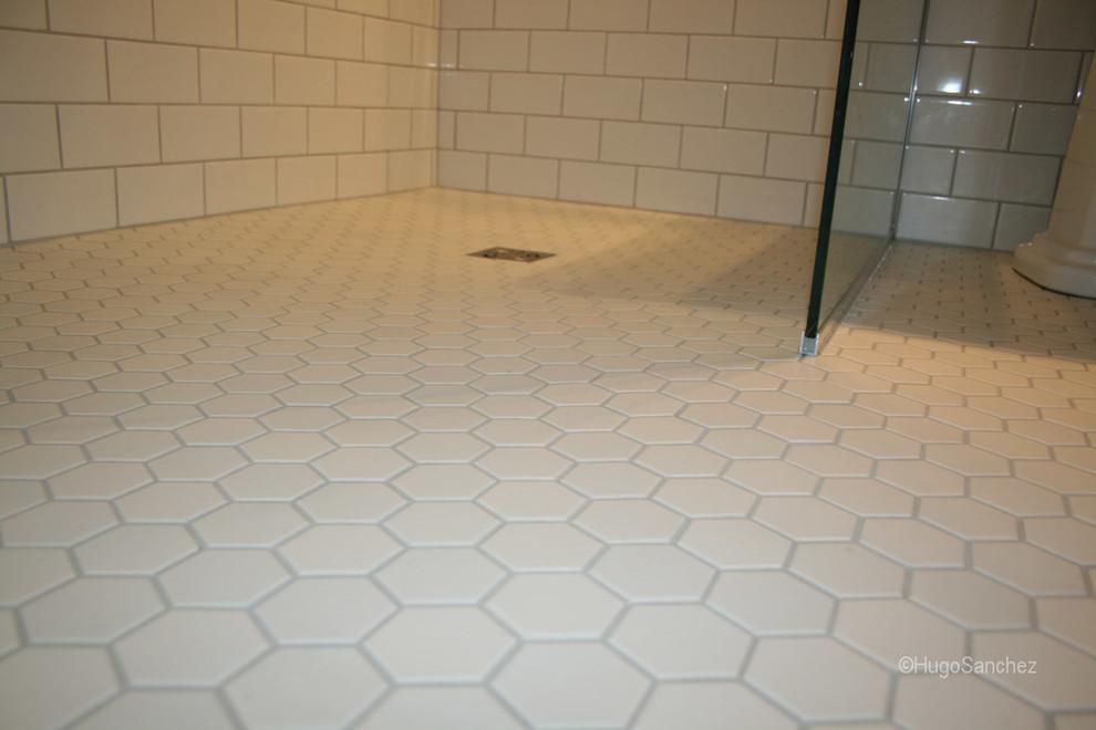 hexagonal shower floor tiles