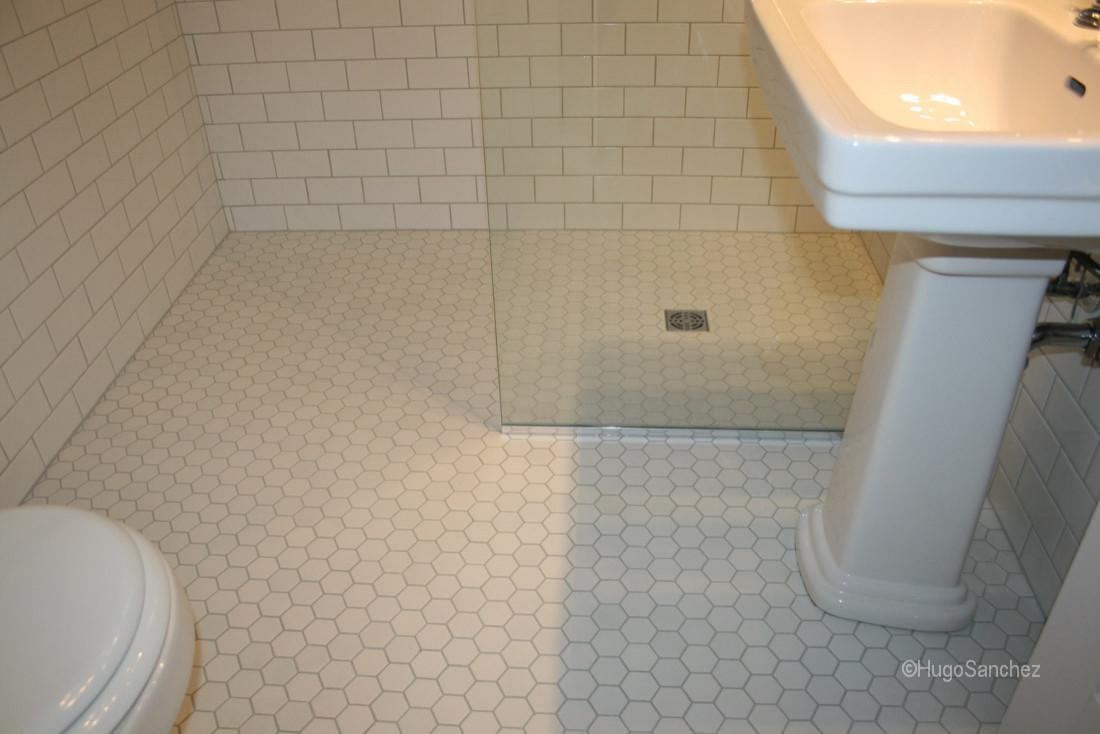 hexagon shower floor tiles houzz