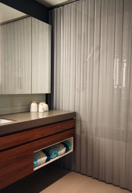 mesh shower curtain houzz