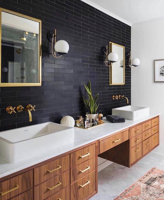 black tile bathroom pictures ideas