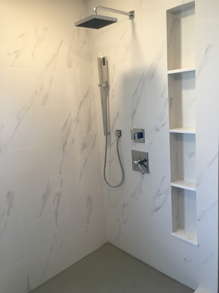 porcelain white marble tile gray
