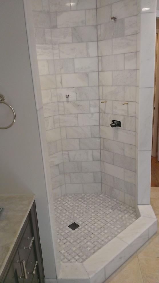 master bathroom shower carrara