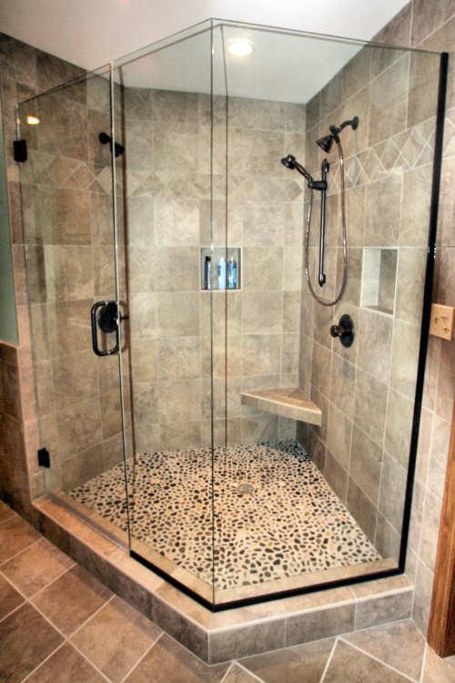 custom tile shower houzz